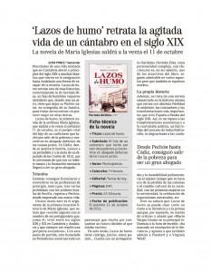 Artículo en El Mundo - Cantabria (27-09-2011)
