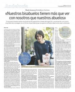 María Iglesias en la Razón