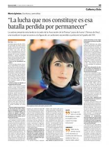 Artículo en el Diario de Cádiz